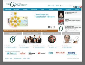 Main page screenshot of opengroup.org