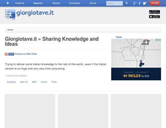 Main page screenshot of giorgiotave.net