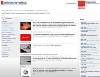 Thumbshot of Verbraucherrecht.at