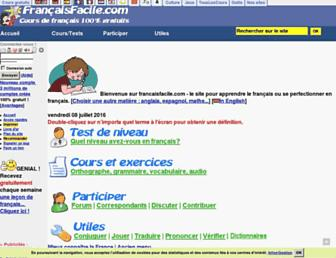 francaisfacile.com screenshot