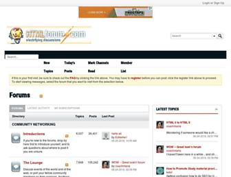 Thumbshot of Htmlforums.com