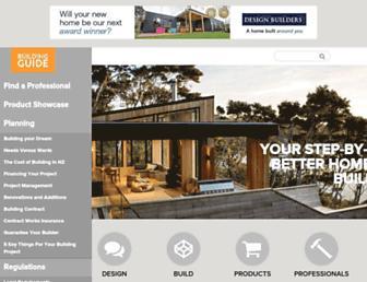 buildingguide.co.nz screenshot