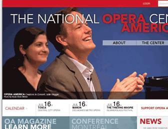 operaamerica.org screenshot