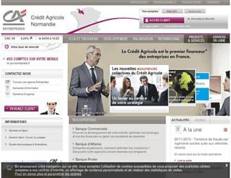 Main page screenshot of entreprises.ca-normandie.fr