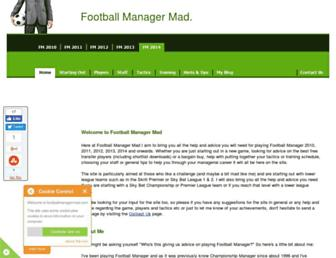 footballmanagermad.com screenshot