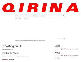 uk.co.xlhosting.qirina.com screenshot