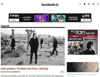 Main page screenshot of buzzbands.la