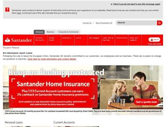 Fullscreen thumbnail of santander.co.uk