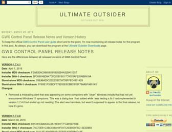 blog.ultimateoutsider.com screenshot