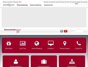 Main page screenshot of bankislam.com.my
