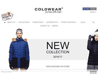coldwear.com.sg screenshot