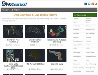 dwgdownload.com screenshot