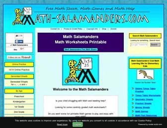 math-salamanders.com screenshot