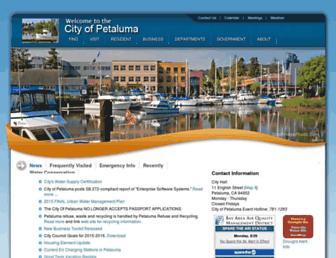 cityofpetaluma.net screenshot