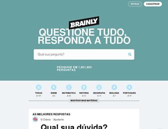 brainly.com.br screenshot
