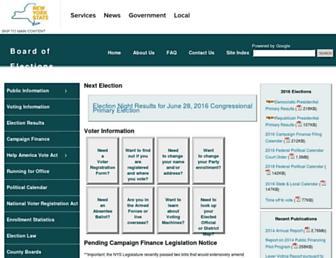 elections.ny.gov screenshot