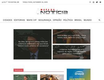 mapadanoticia.com.br screenshot