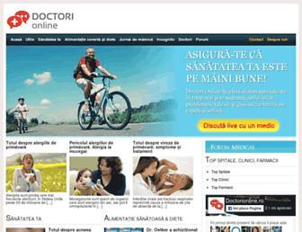 doctorionline.ro screenshot