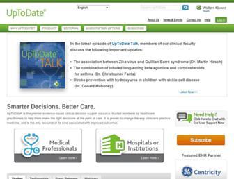 uptodate.com screenshot