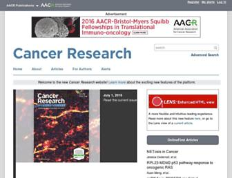 cancerres.aacrjournals.org screenshot