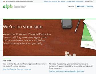 Thumbshot of Consumerfinance.gov