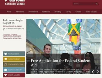 Main page screenshot of abtech.edu