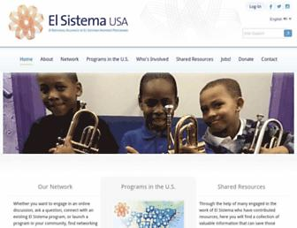 elsistemausa.org screenshot