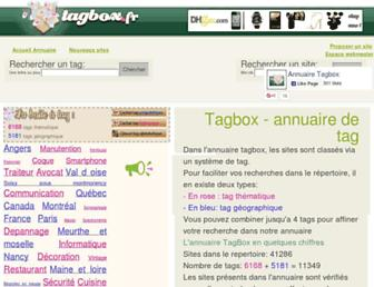 Main page screenshot of tagbox.fr