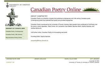 canpoetry.library.utoronto.ca screenshot