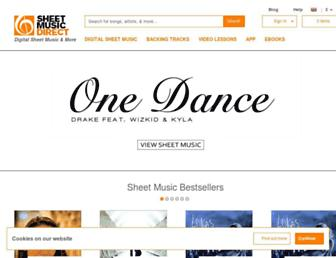 Thumbshot of Sheetmusicdirect.com