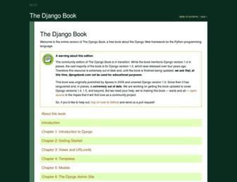 Thumbshot of Djangobook.com