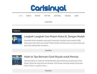 carisinyal.com screenshot