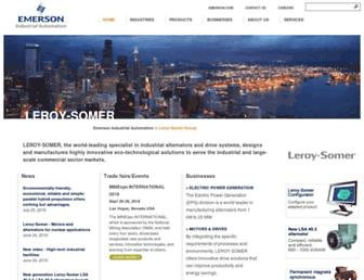 leroy-somer.com screenshot