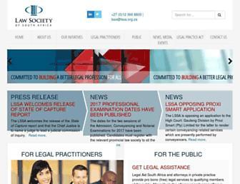 lssa.org.za screenshot
