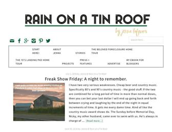Thumbshot of Rainonatinroof.com