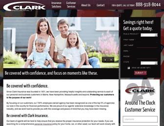 clarkinsurance.com screenshot
