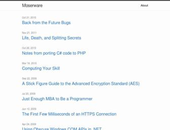 moserware.com screenshot
