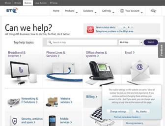 btbusiness.custhelp.com screenshot