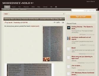 Thumbshot of Morrissey-solo.com