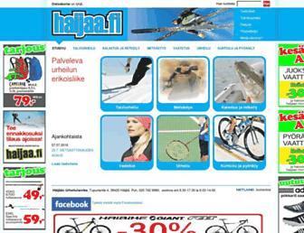 Main page screenshot of haijaa.fi