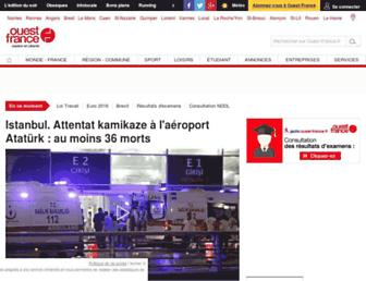 Main page screenshot of ouest-france.fr