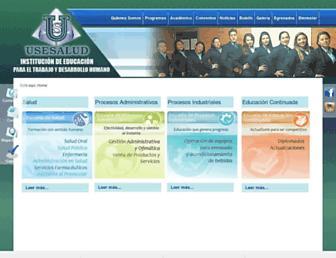 usesalud.edu.co screenshot