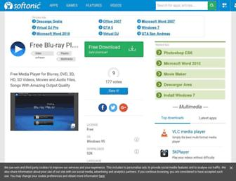 free-blu-ray-player.en.softonic.com screenshot