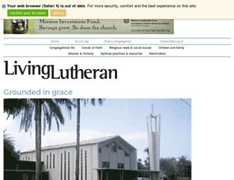 livinglutheran.org screenshot