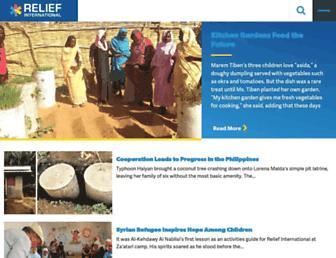 Main page screenshot of ri.org