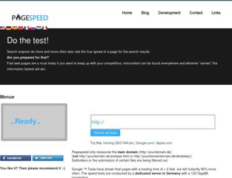speed-test.pagespeed.de screenshot