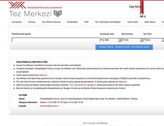 tez.yok.gov.tr screenshot