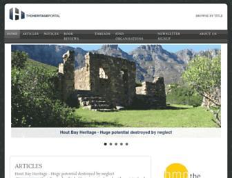 theheritageportal.co.za screenshot