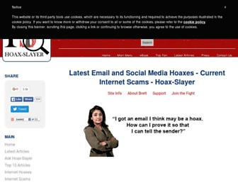 hoax-slayer.com screenshot