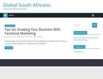 Main page screenshot of globalsouthafricans.net